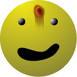 bleeding smiley